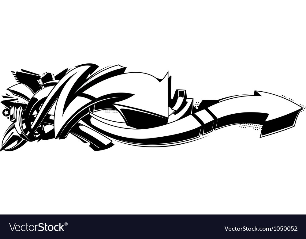 Black and white graffiti background vector | Price: 1 Credit (USD $1)