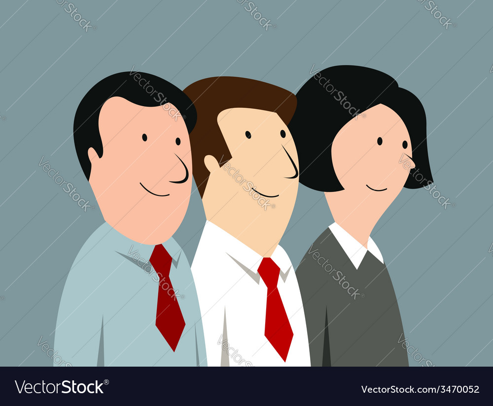 Cartoon business team in office vector | Price: 1 Credit (USD $1)