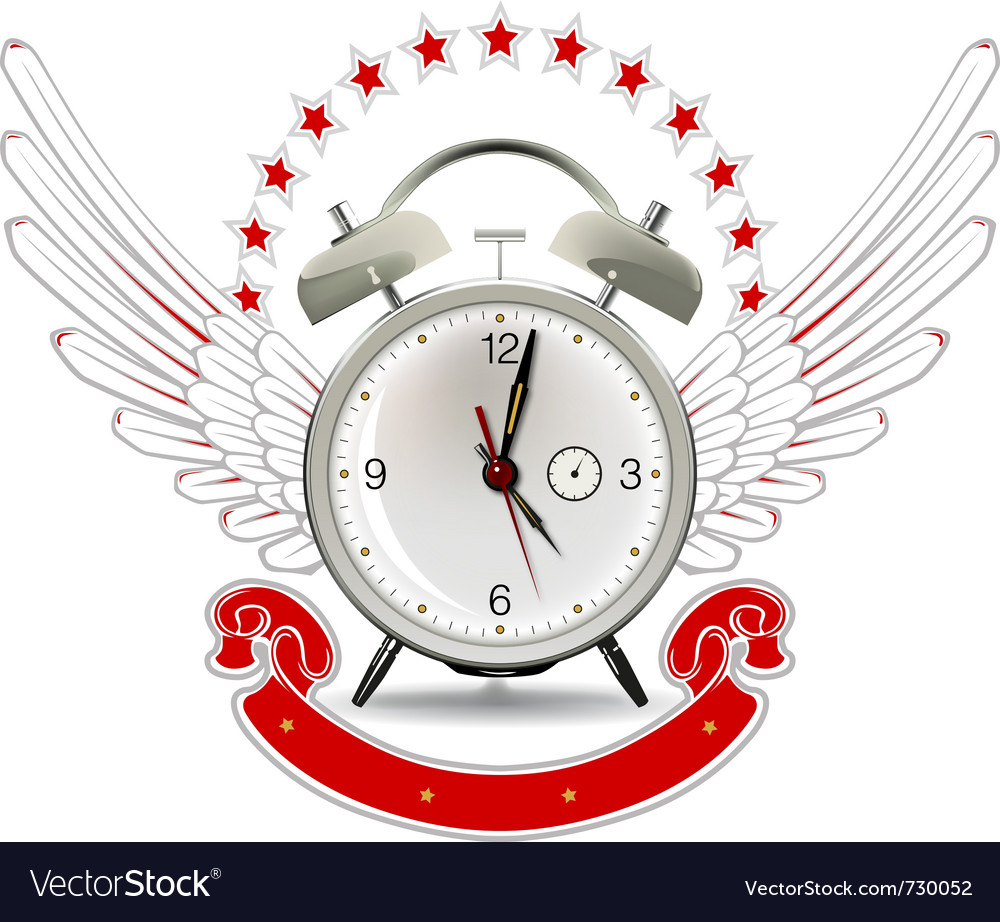 Clock alarm emblem vector | Price: 1 Credit (USD $1)