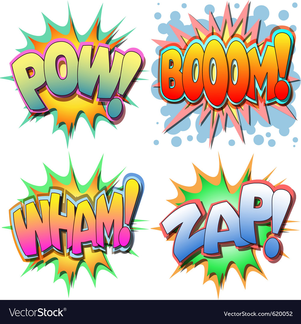 Comic book vector | Price: 1 Credit (USD $1)