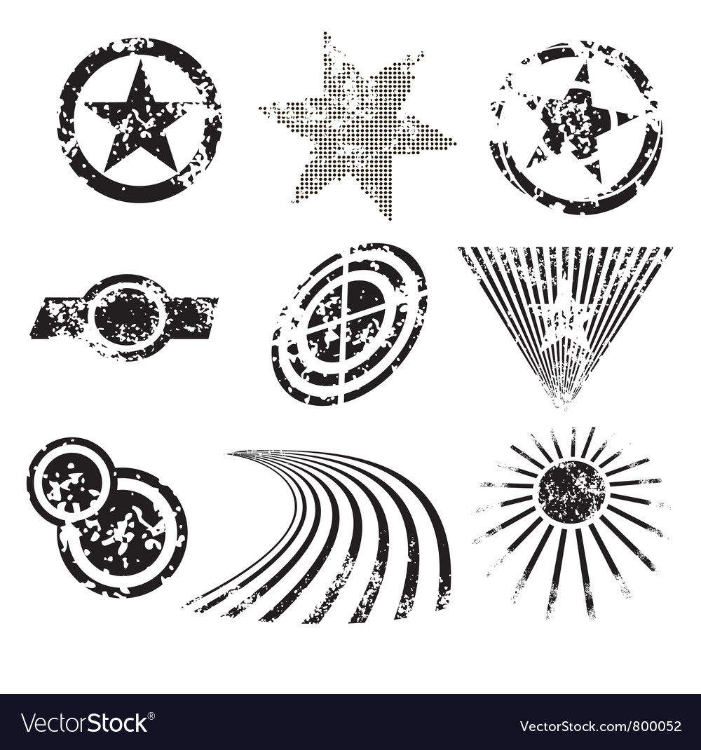 Distressed shapes vector | Price: 1 Credit (USD $1)