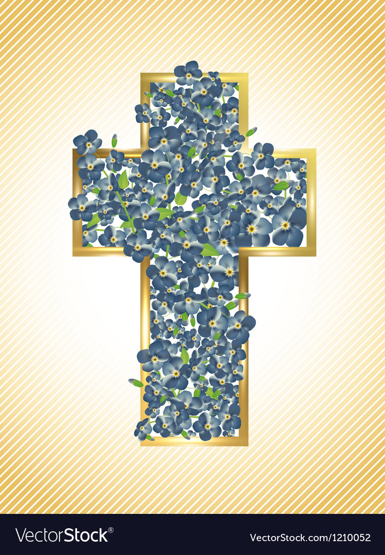 Easter holiday cross vector | Price: 1 Credit (USD $1)