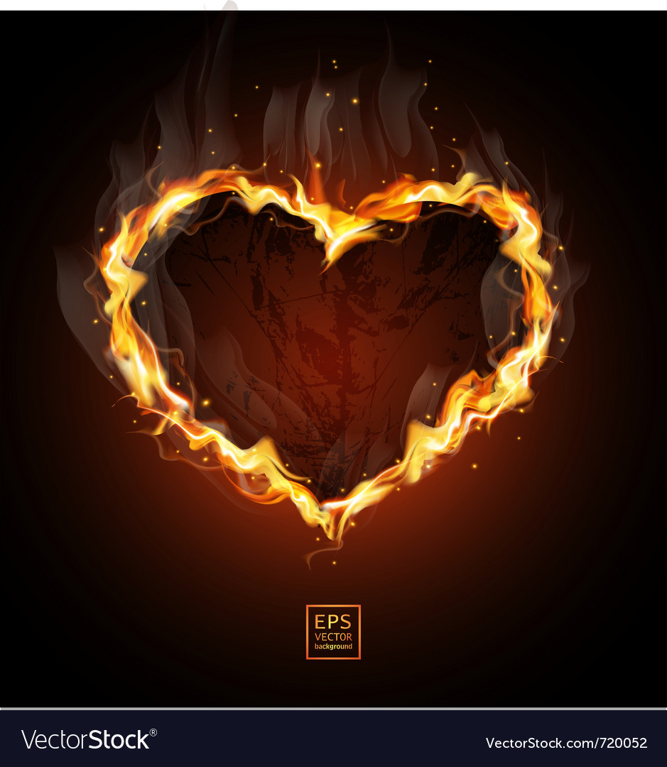 Fiery heart vector | Price: 3 Credit (USD $3)