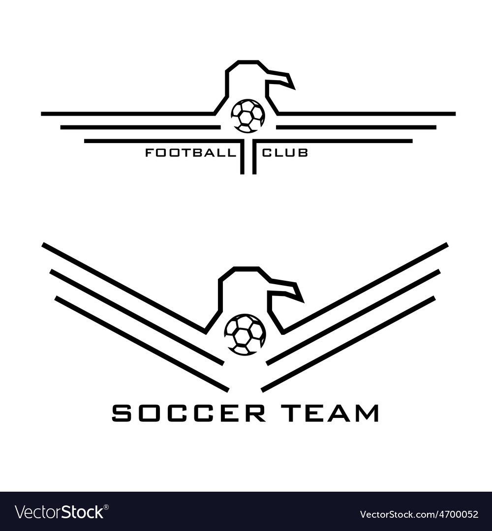 Football emblems with eagles vector | Price: 1 Credit (USD $1)