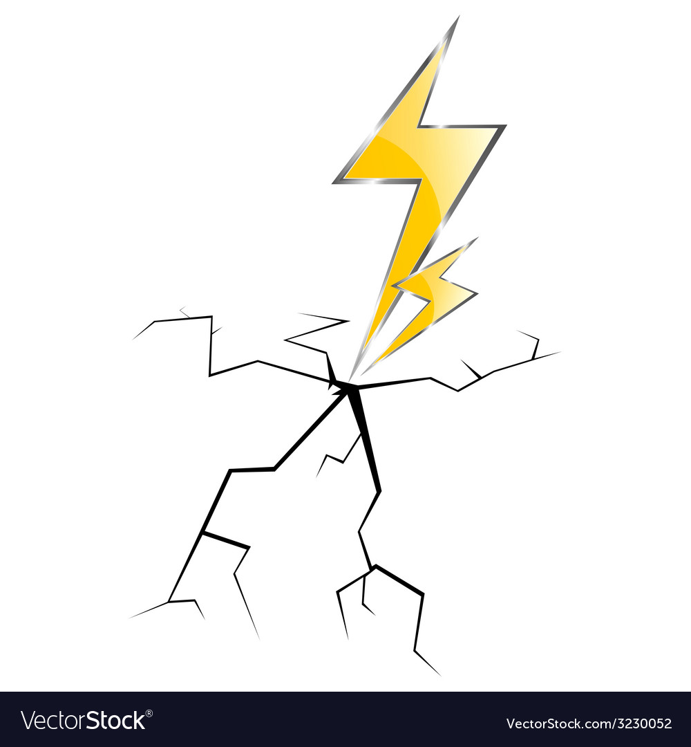 Lightning and cracks vector | Price: 1 Credit (USD $1)