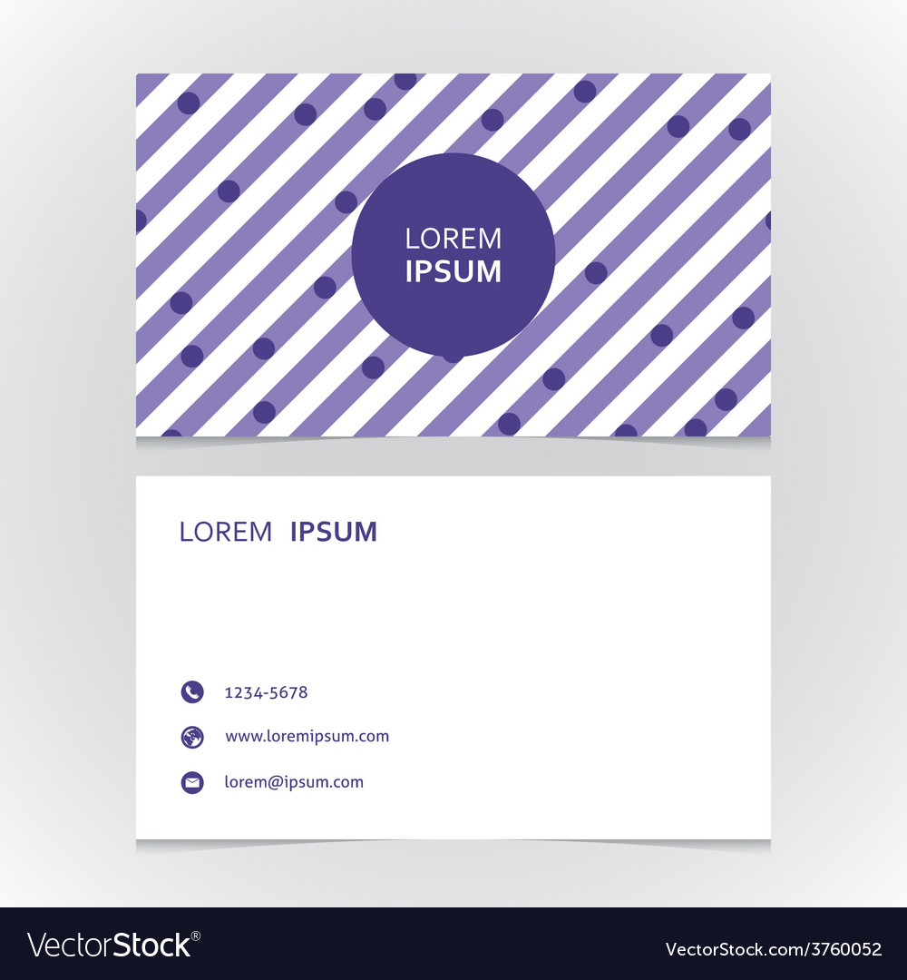Modern simple business card with a striped vector | Price: 1 Credit (USD $1)