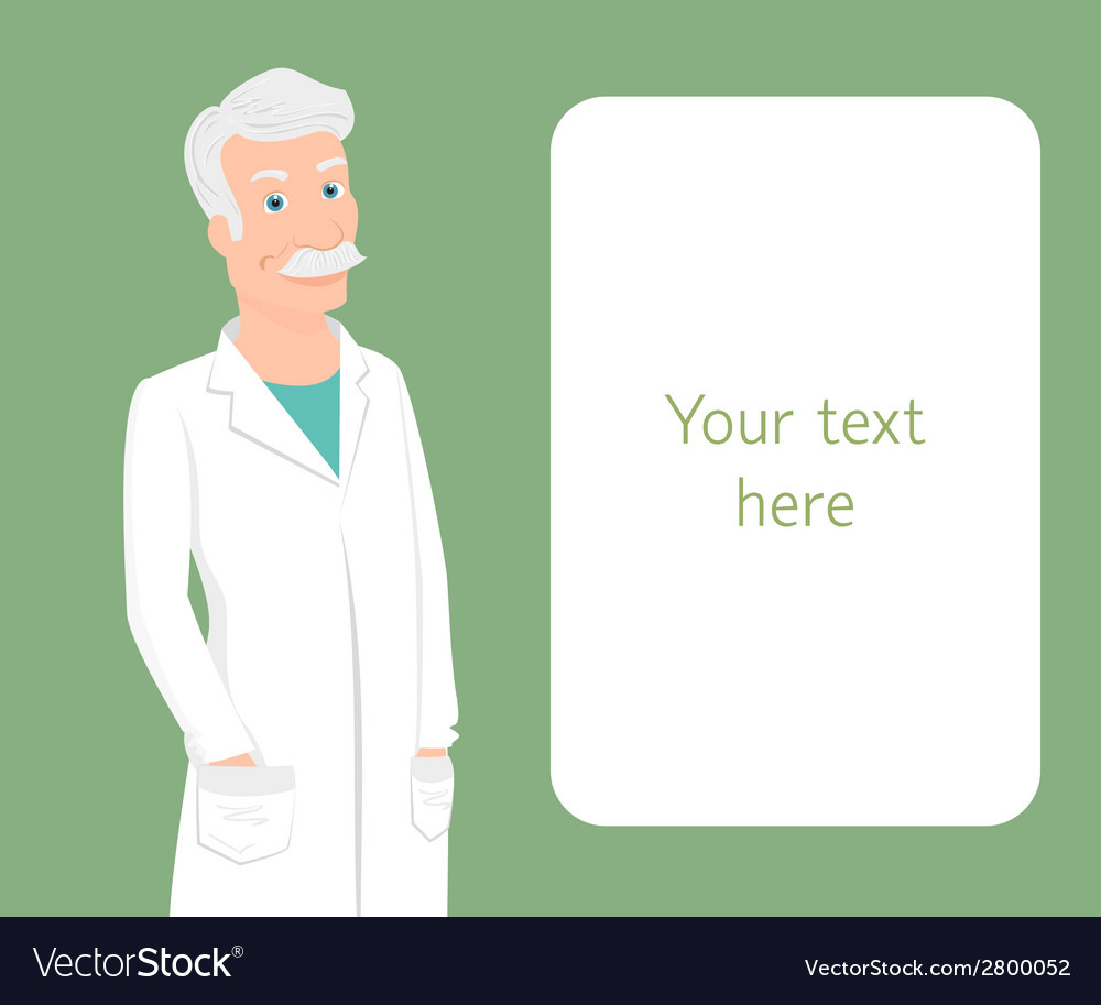 Professor wearing white uniform vector | Price: 1 Credit (USD $1)