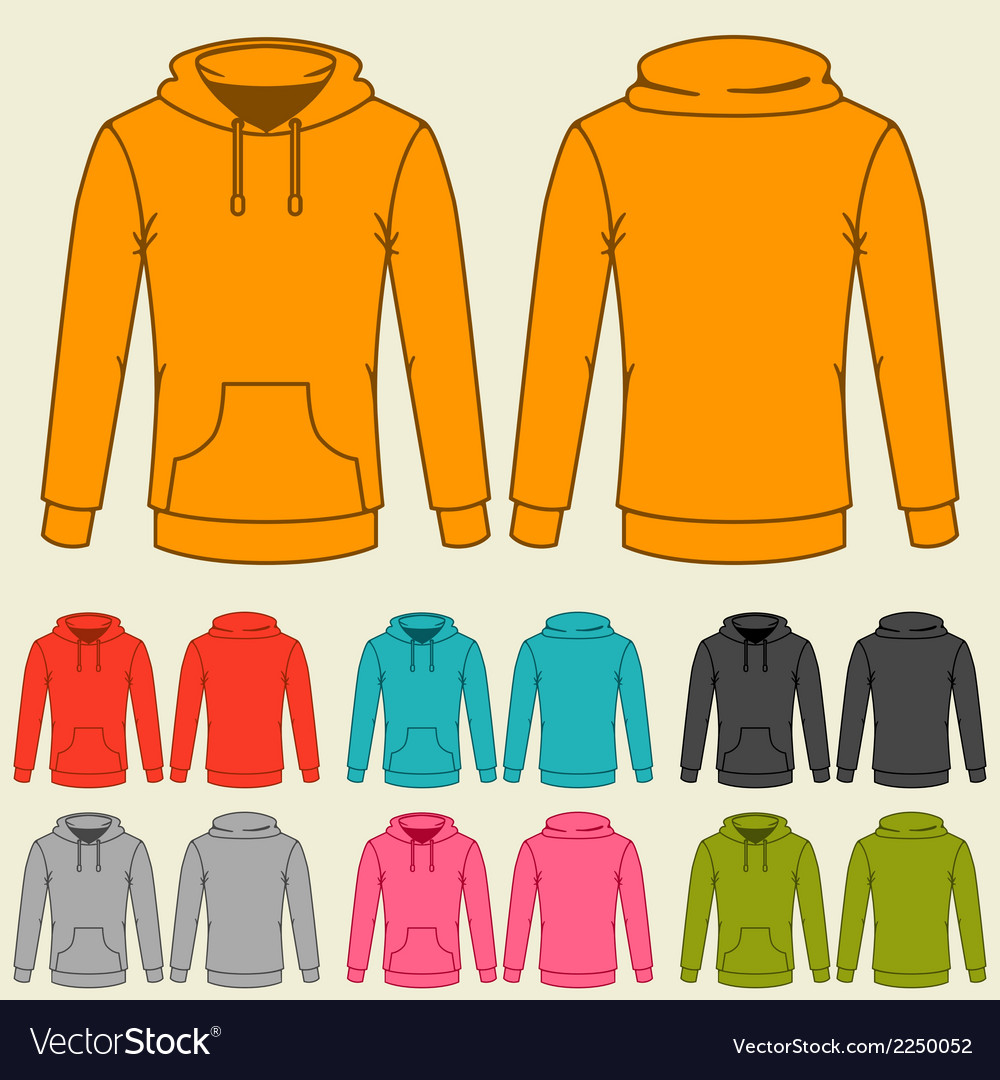 Set of templates colored sweatshirts for women vector | Price: 1 Credit (USD $1)