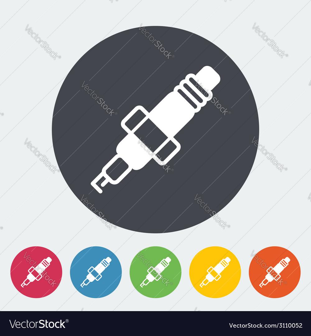 Sparkplug single icon vector | Price: 1 Credit (USD $1)