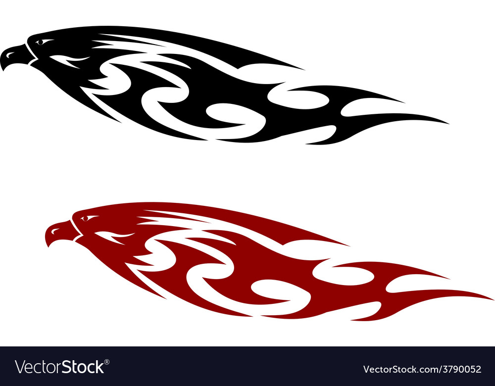 Stylized patterned predator bird with a fierce vector | Price: 1 Credit (USD $1)