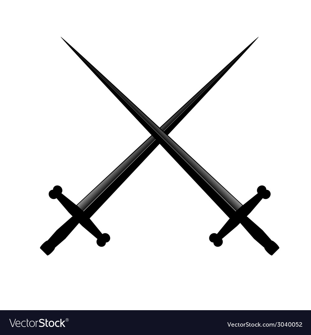 Sword two vector | Price: 1 Credit (USD $1)