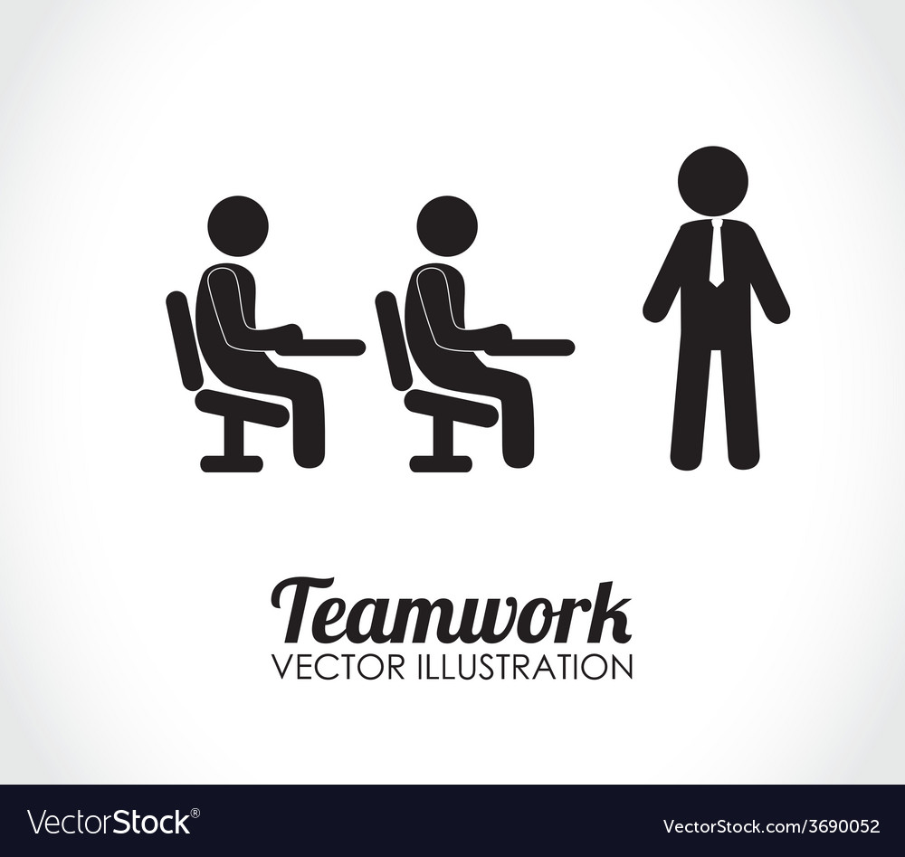 Teamwork design over white background vector | Price: 1 Credit (USD $1)