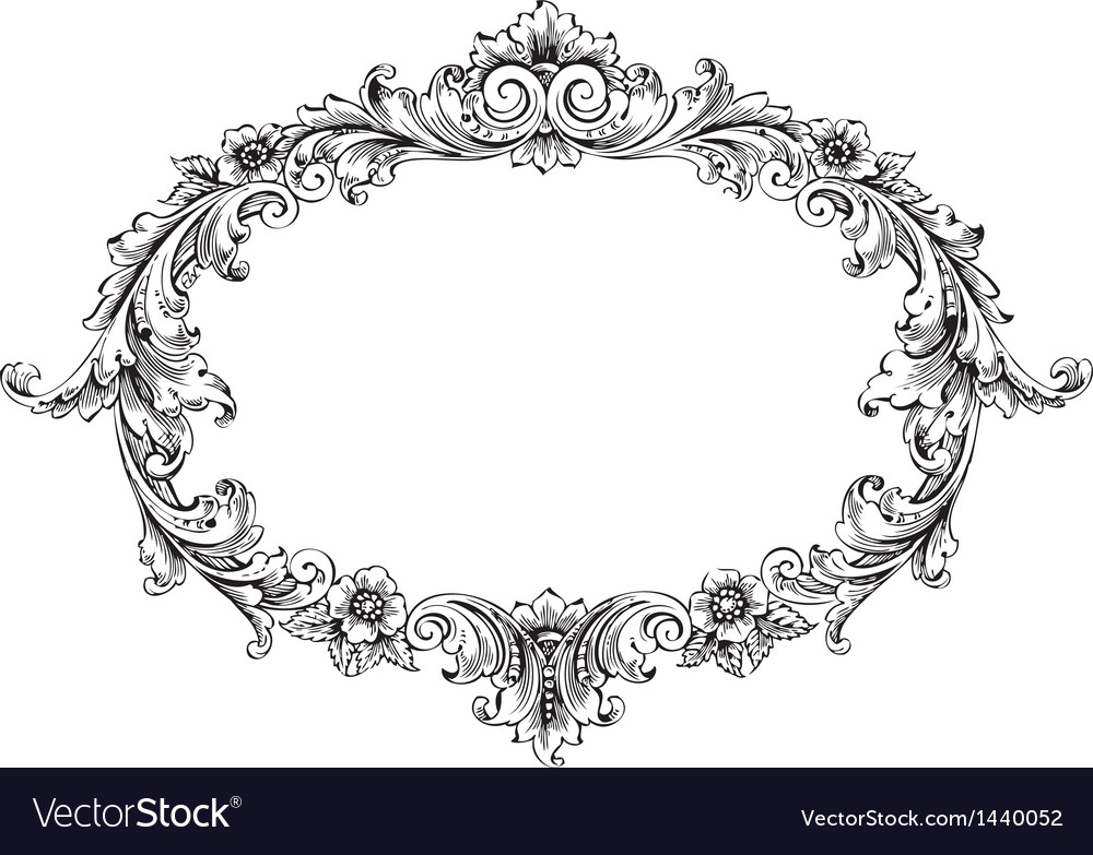 Victorian frame vector | Price: 1 Credit (USD $1)
