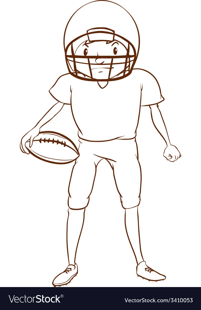 A football player vector | Price: 1 Credit (USD $1)