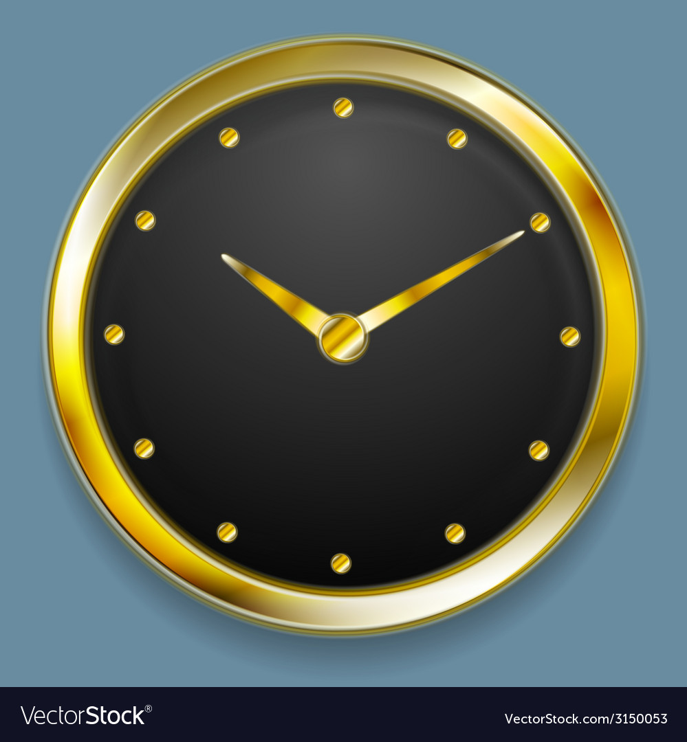 Abstract golden clock design vector | Price: 1 Credit (USD $1)