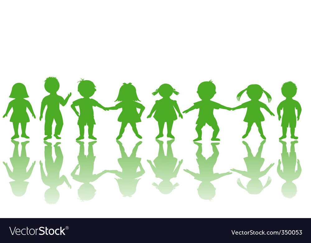 Children border vector | Price: 1 Credit (USD $1)