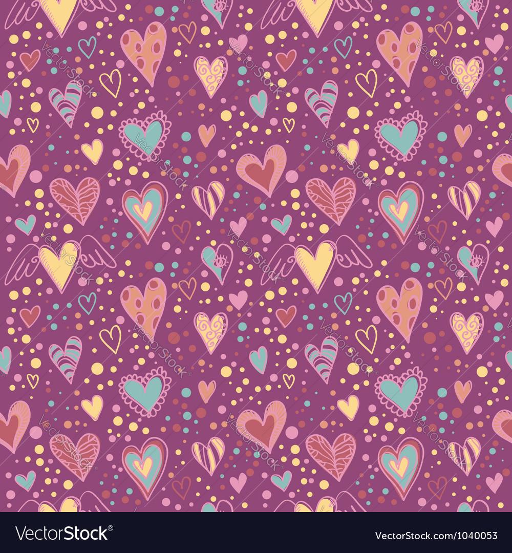 Cute doodle seamless wallpaper vector | Price: 1 Credit (USD $1)