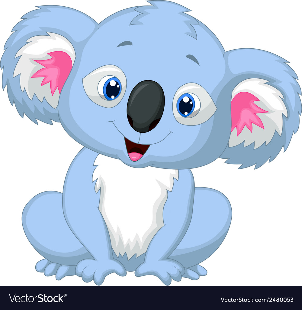 Cute koala cartoon vector | Price: 1 Credit (USD $1)