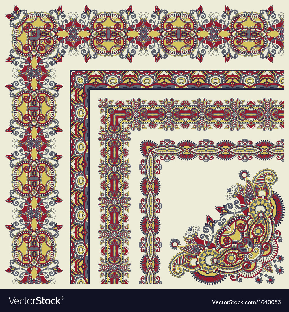Floral vintage frame design vector | Price: 1 Credit (USD $1)