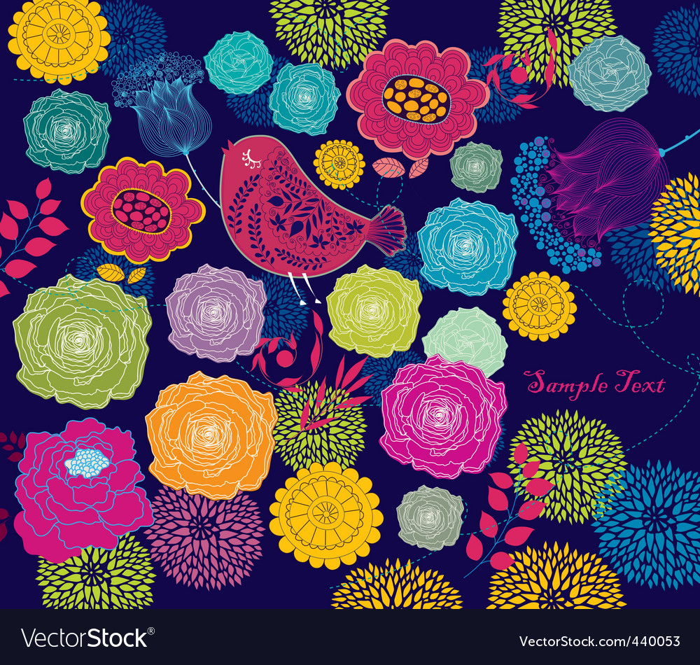 Flower background vector | Price: 1 Credit (USD $1)