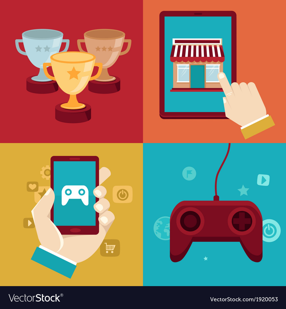 Game marketing vector | Price: 1 Credit (USD $1)