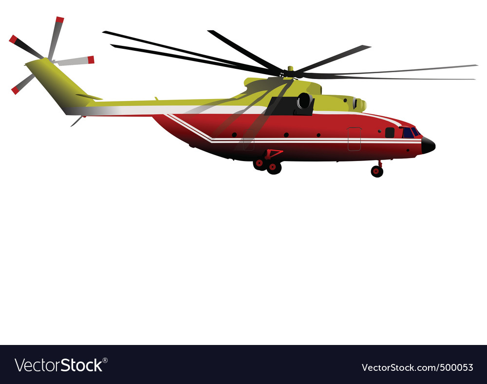Helicopter vector | Price: 3 Credit (USD $3)
