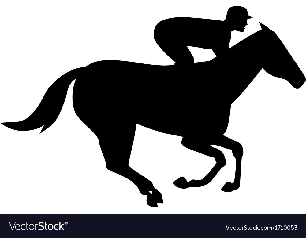 Horse racing side silhouette vector | Price: 1 Credit (USD $1)