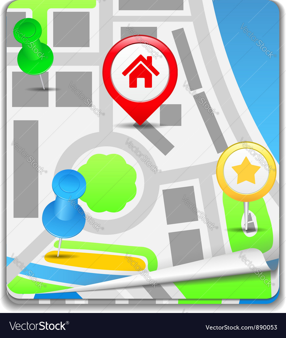 Map icon vector | Price: 1 Credit (USD $1)