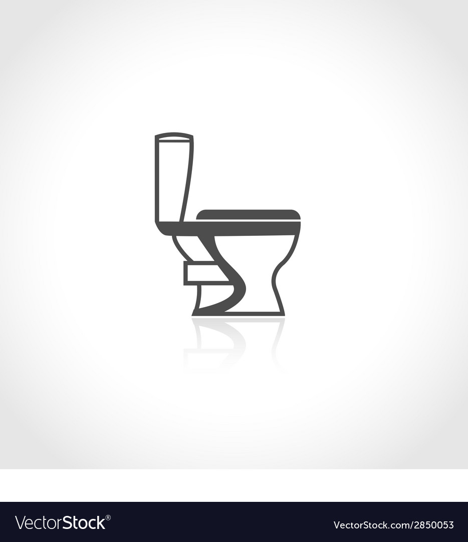 Plumbing icon toilet bowl vector | Price: 1 Credit (USD $1)