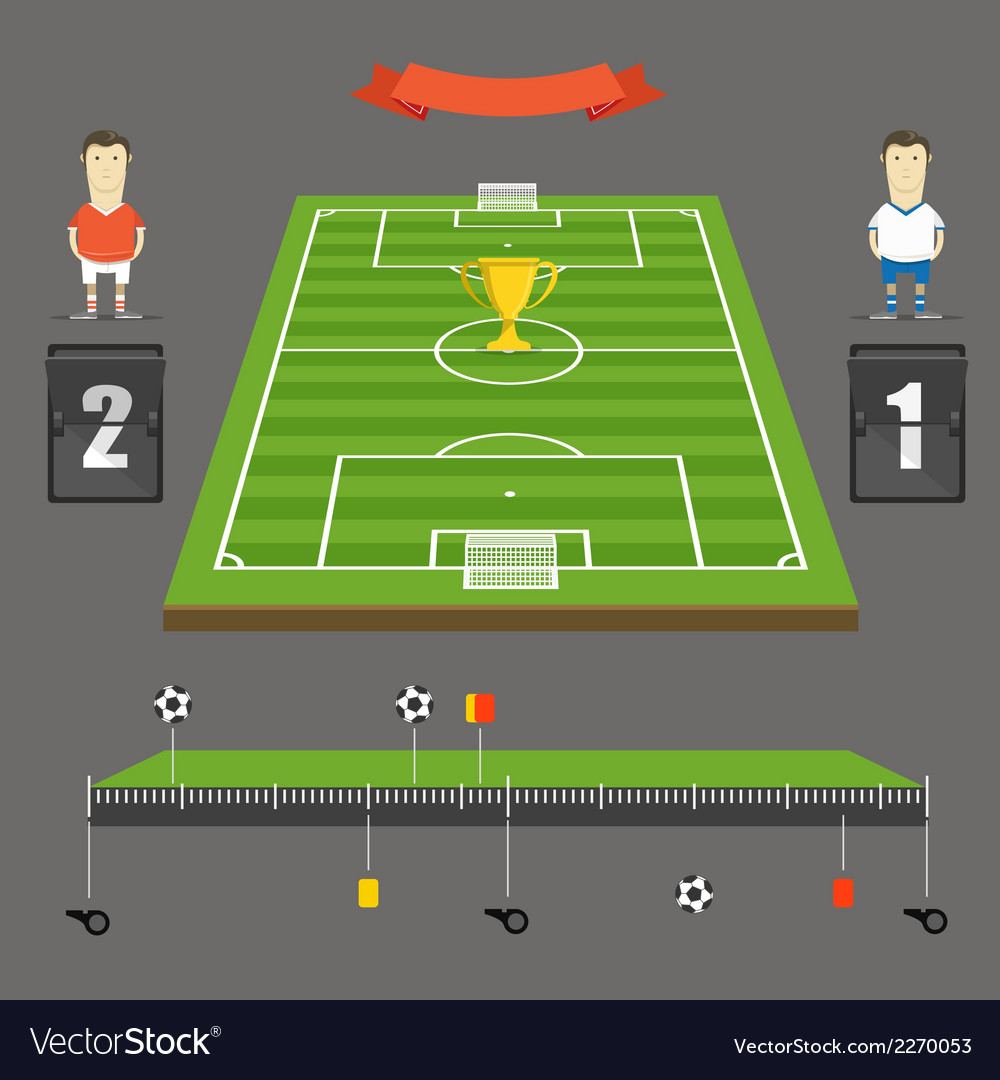 Soccer match statistics template vector | Price: 1 Credit (USD $1)