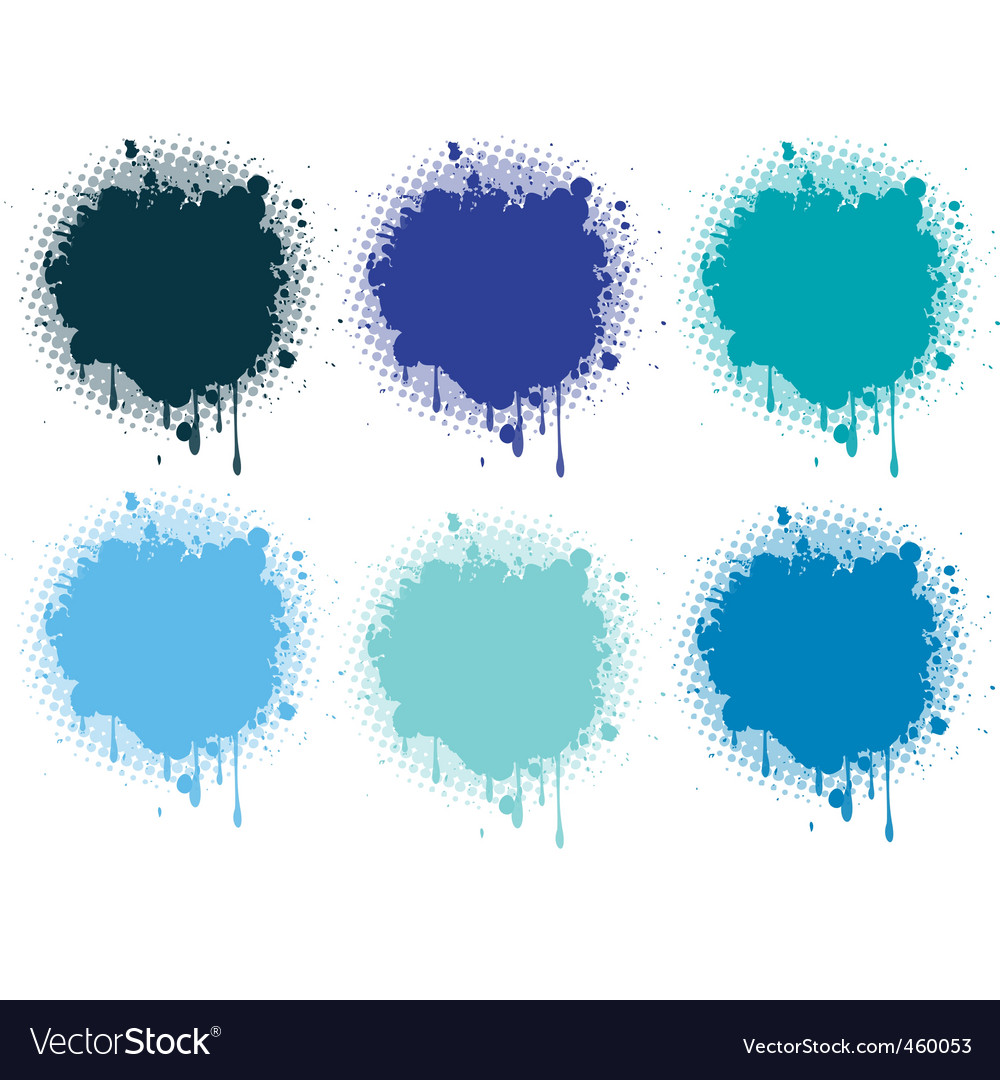 Splash blue collection vector | Price: 1 Credit (USD $1)