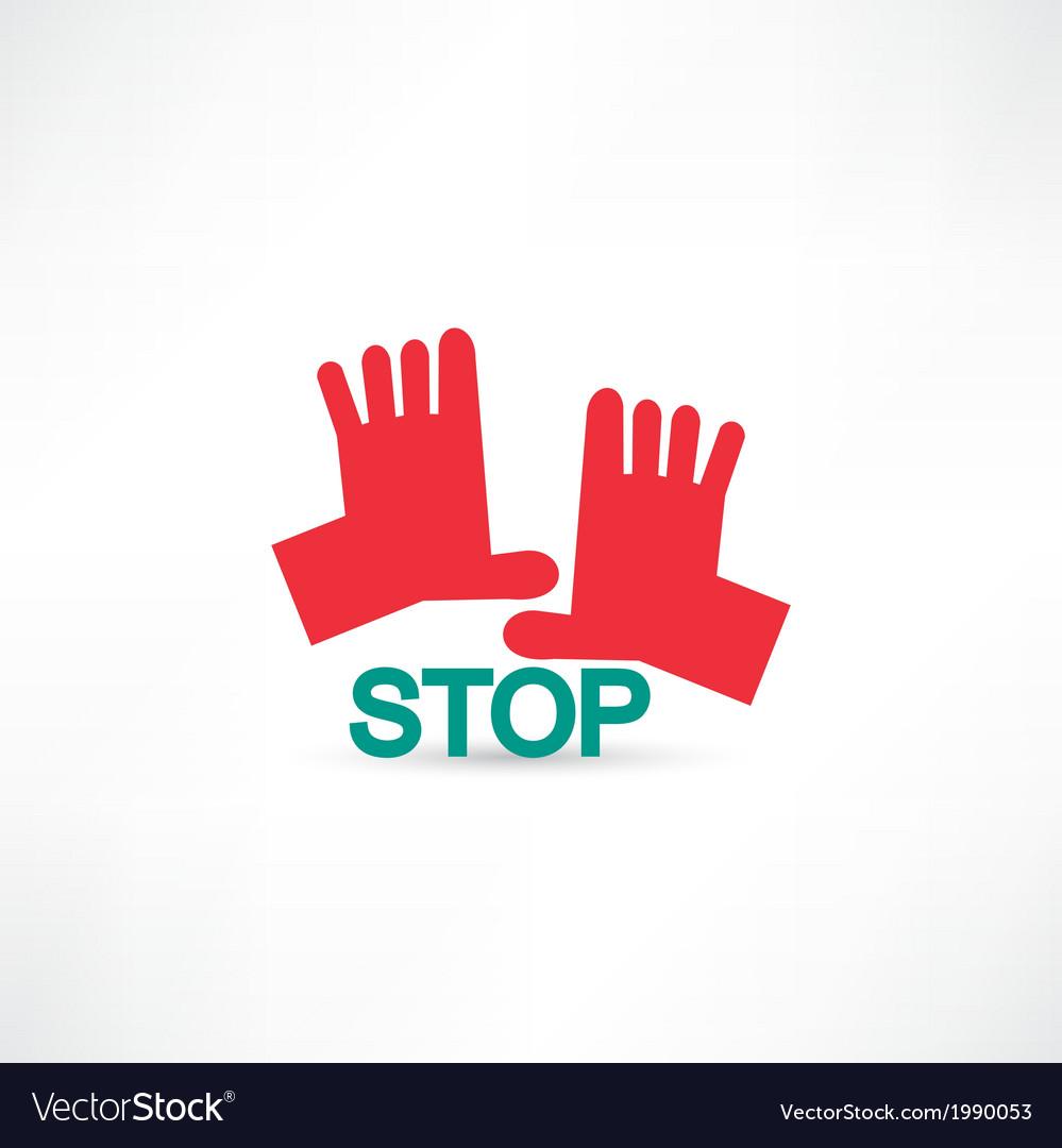 Stop hands icon vector | Price: 1 Credit (USD $1)
