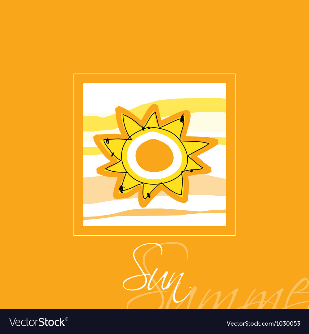 Sun card vector | Price: 1 Credit (USD $1)