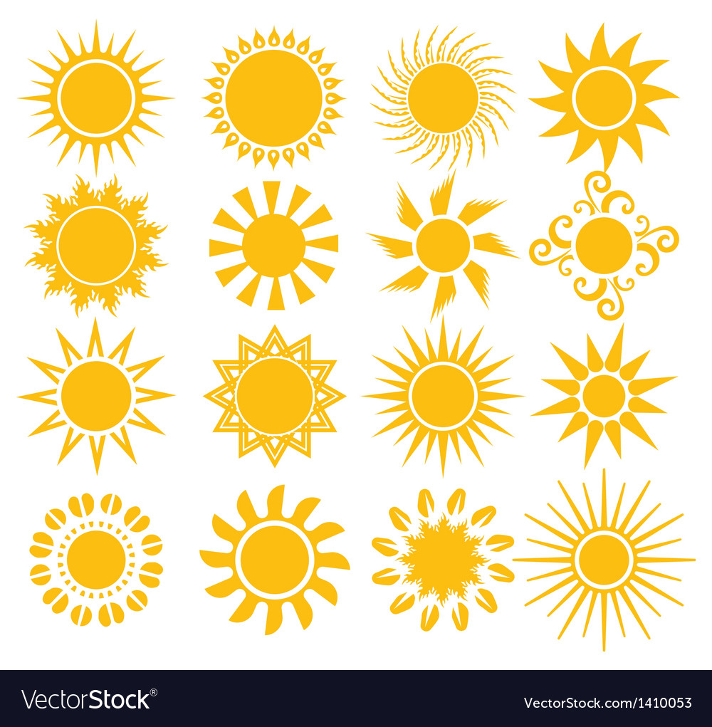 Suns - elements for design vector | Price: 1 Credit (USD $1)