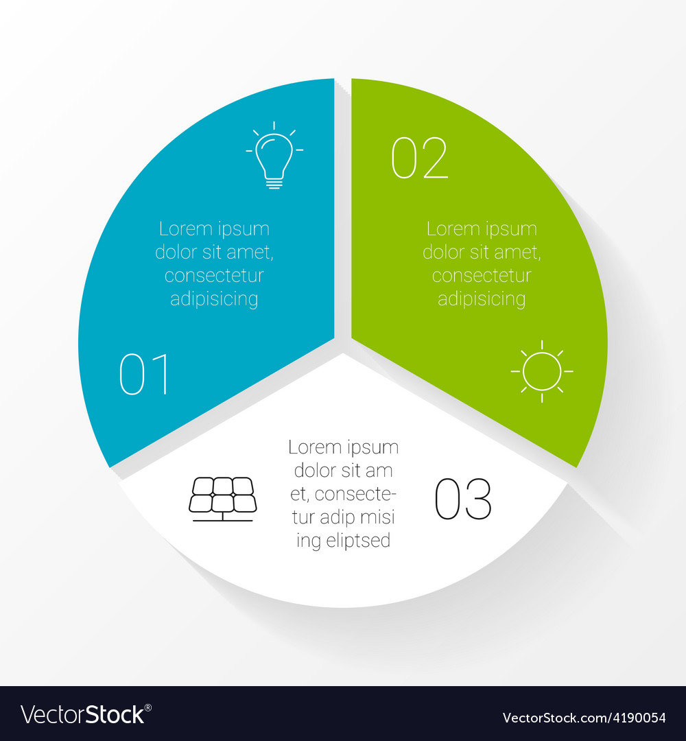 Circle triangle infographic template for vector | Price: 1 Credit (USD $1)