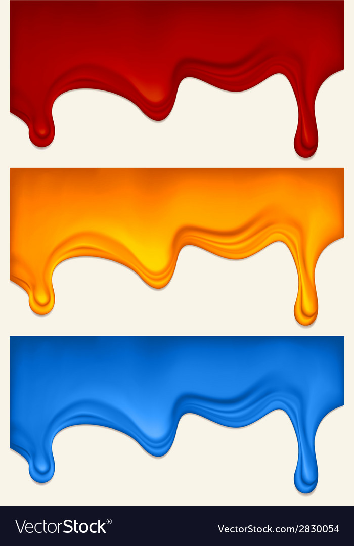 Colored ink flows set vector | Price: 1 Credit (USD $1)