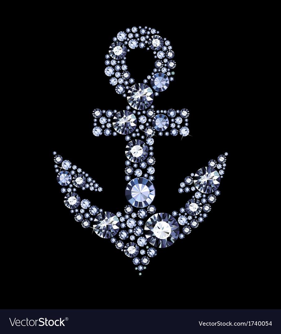 Diamond anchor vector | Price: 1 Credit (USD $1)