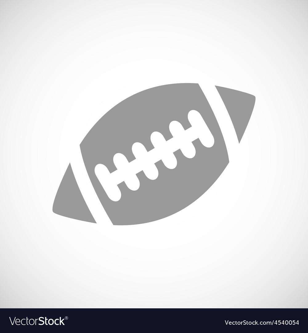Football black icon vector | Price: 1 Credit (USD $1)