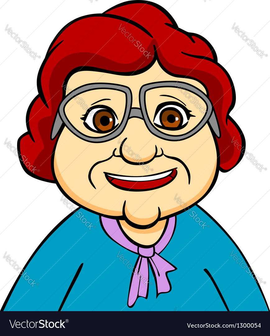 Happiness grandmother vector | Price: 3 Credit (USD $3)