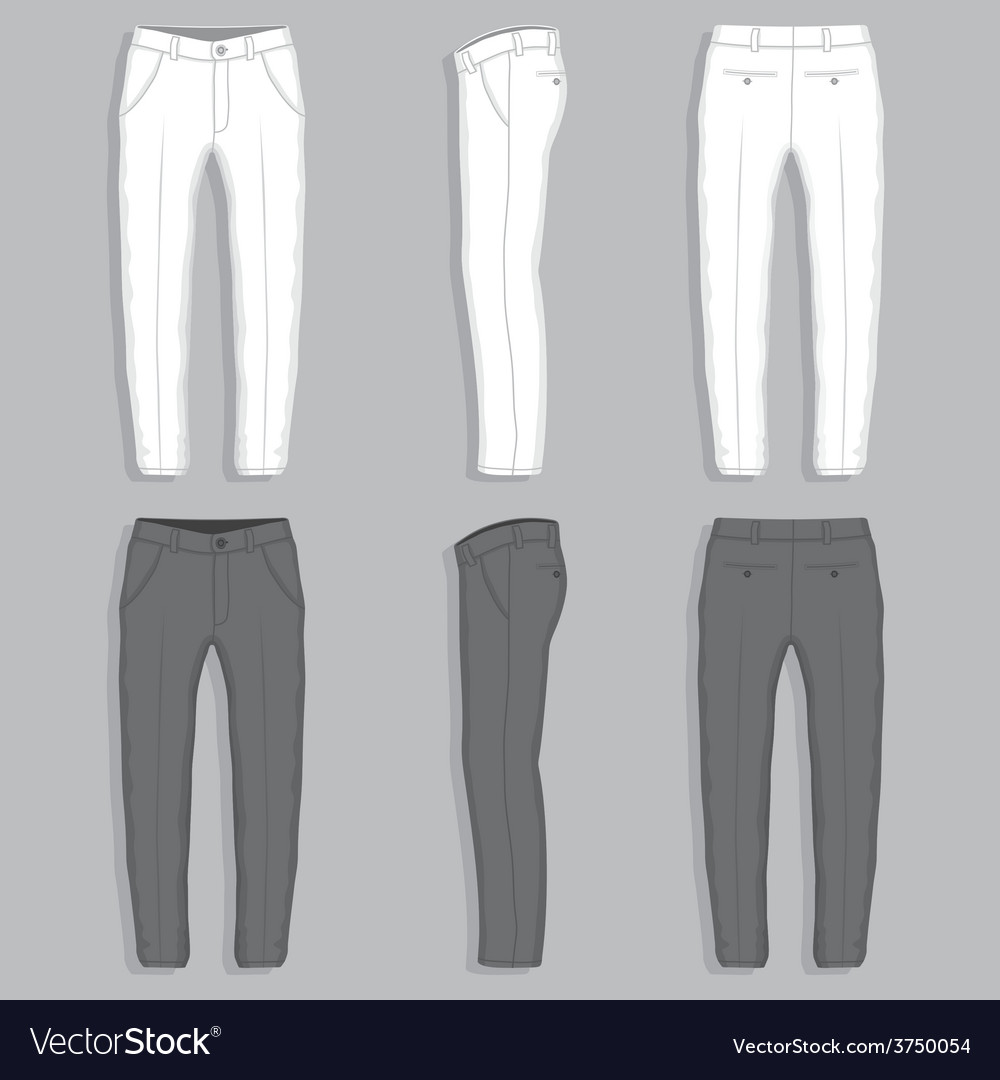 Mans fashion trousers vector | Price: 1 Credit (USD $1)