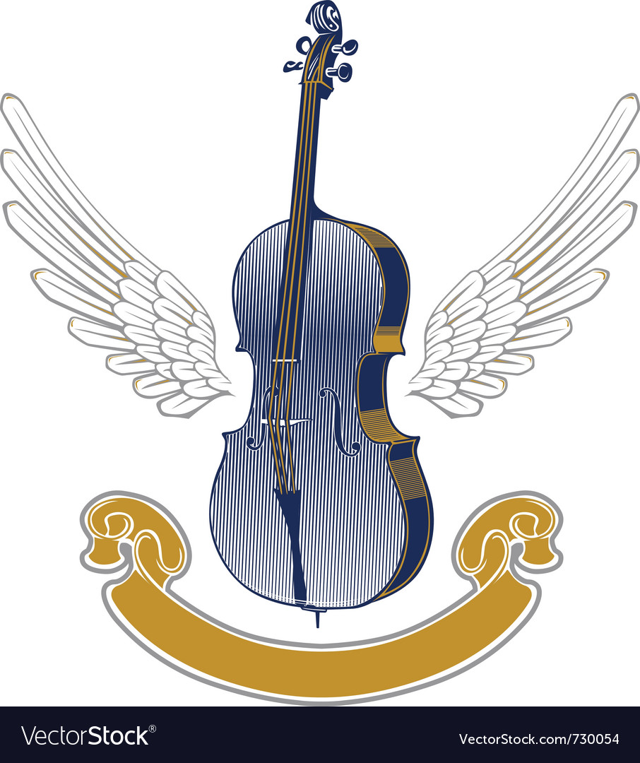 Music wing emblem vector | Price: 1 Credit (USD $1)