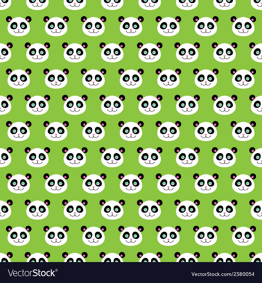 Smiling pandas vector | Price: 1 Credit (USD $1)