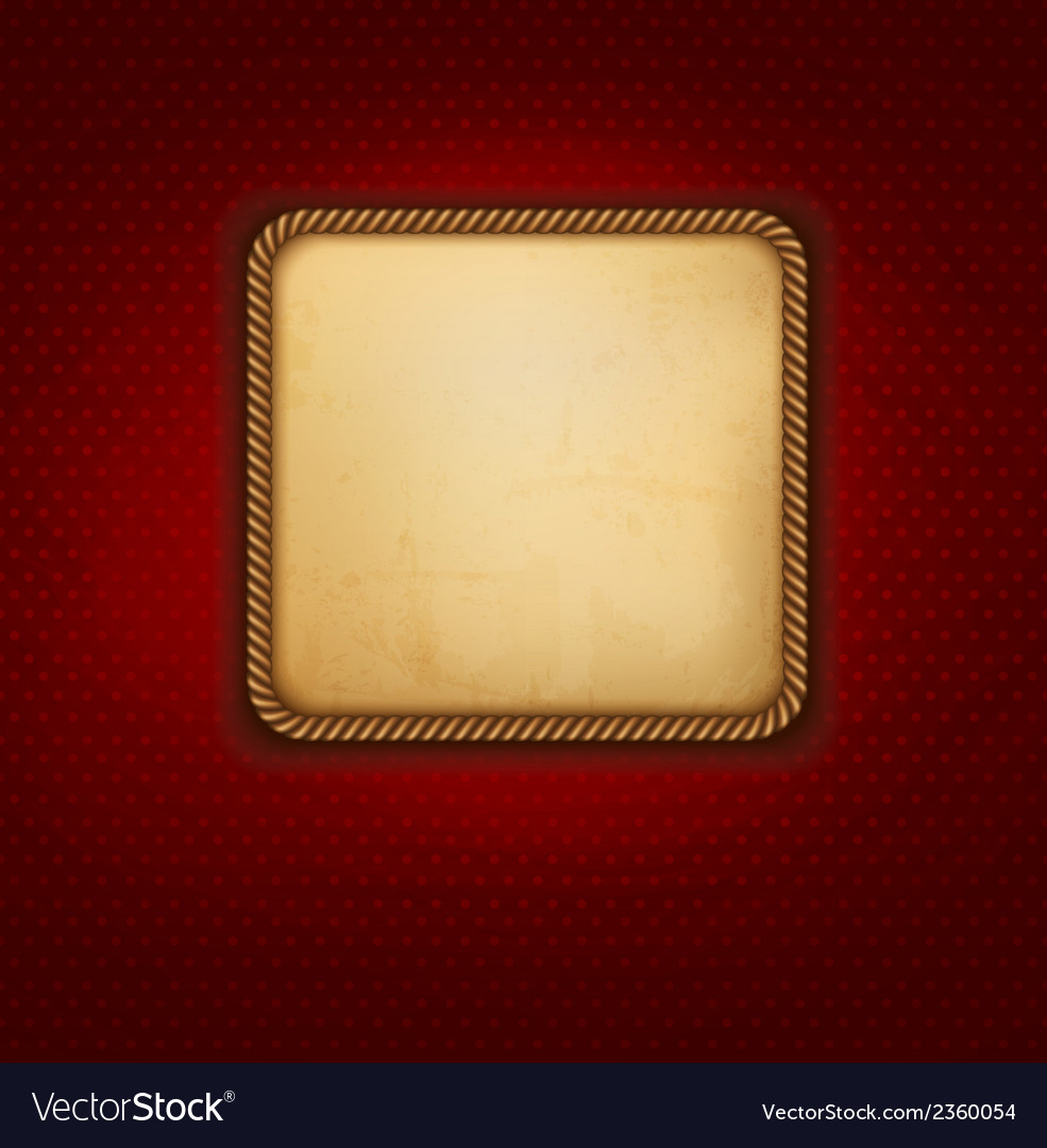 Vintage background with old paper and red wall vector | Price: 1 Credit (USD $1)