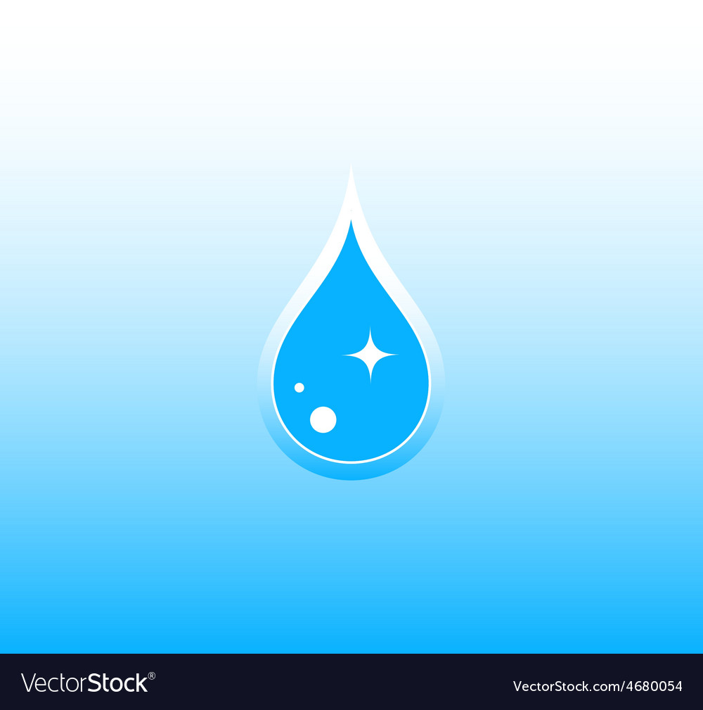 Water background with drop vector | Price: 1 Credit (USD $1)