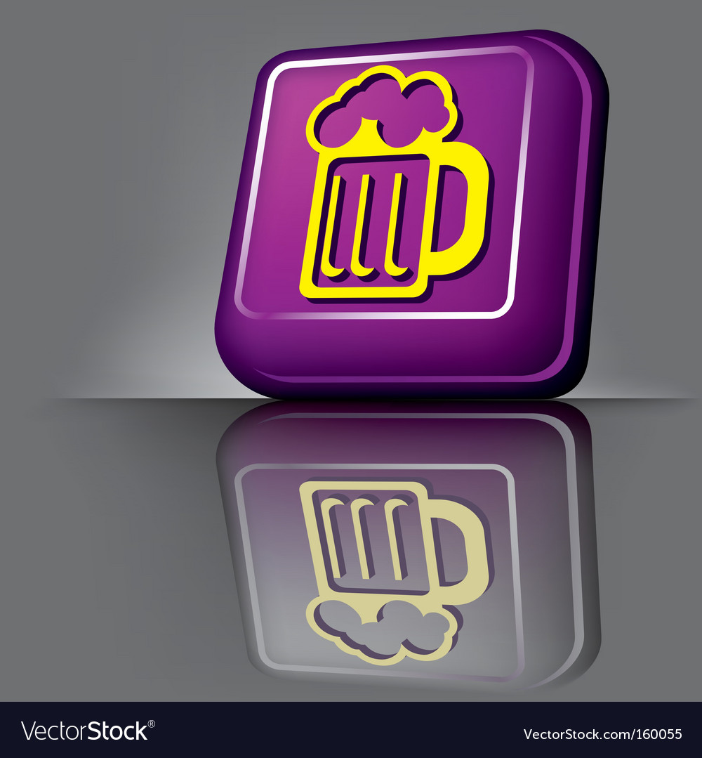 Button beer vector | Price: 1 Credit (USD $1)