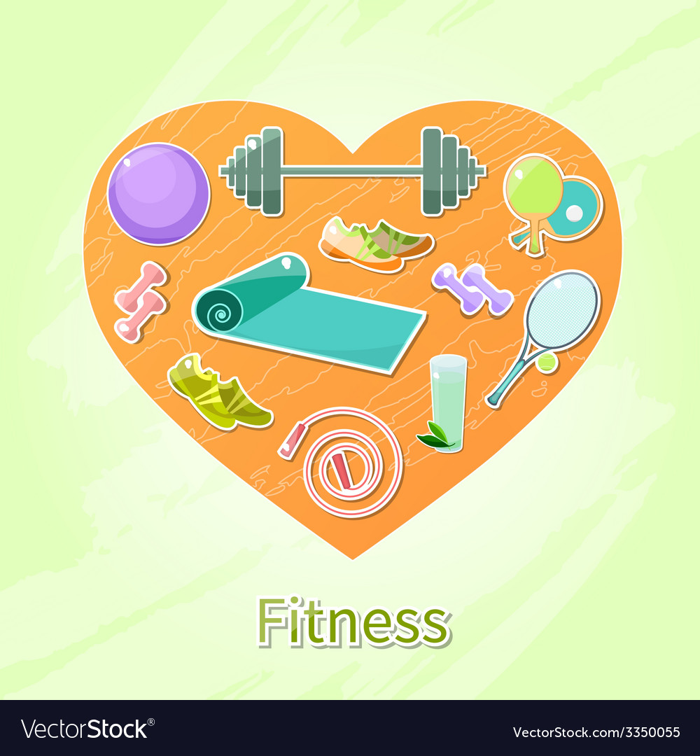 Fitness heart vector | Price: 1 Credit (USD $1)