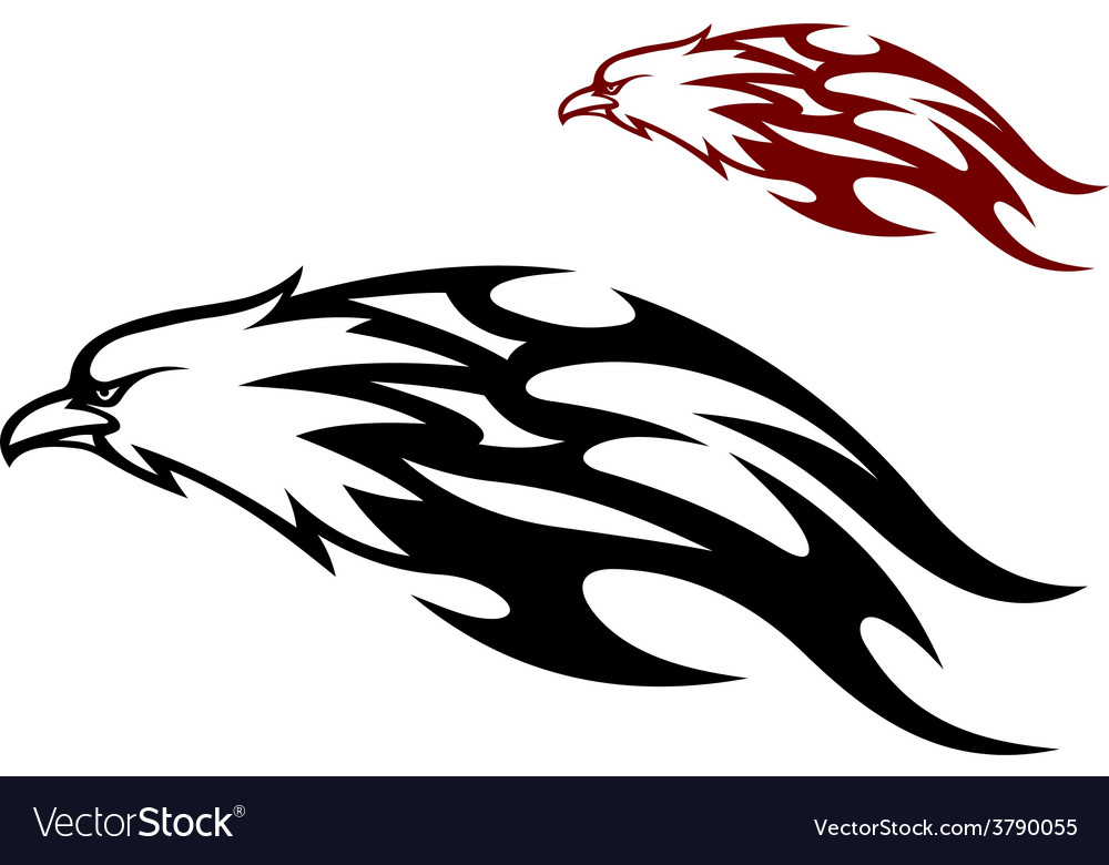 Flying eagle trailing flames vector | Price: 1 Credit (USD $1)