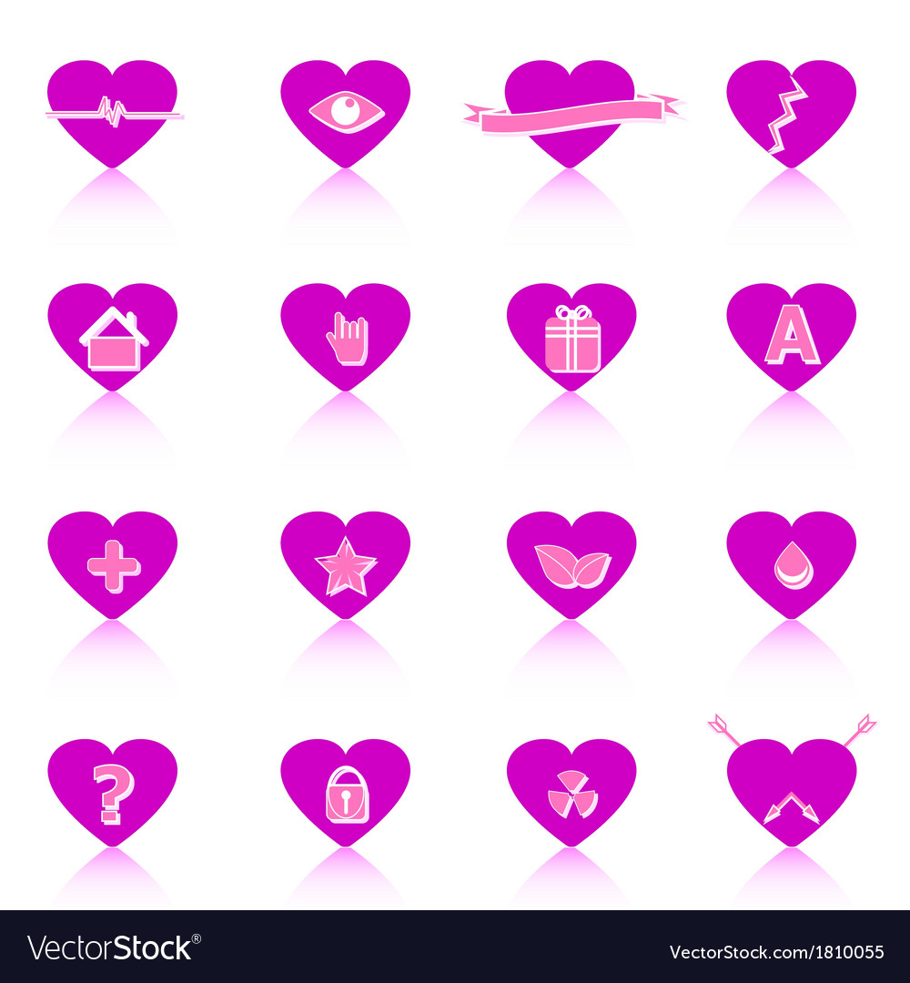 General symbol in heart shape on white background vector | Price: 1 Credit (USD $1)