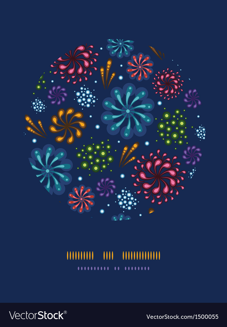Holiday fireworks circle decor pattern background vector | Price: 1 Credit (USD $1)