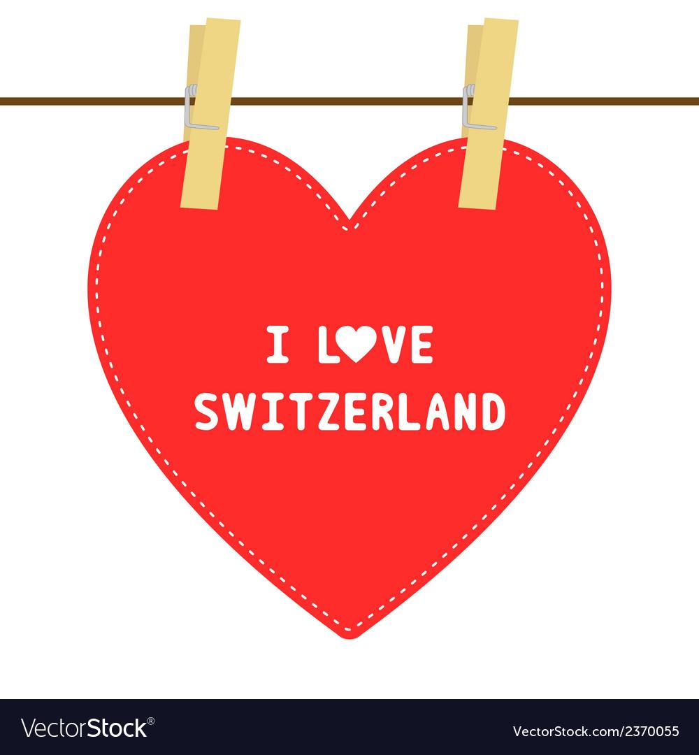 I love switzerland6 vector | Price: 1 Credit (USD $1)